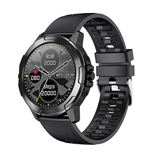 BNMY Smartwatch, Reloj Inteligente Mujer Hombre con Correa Repuesta, Smartwatch Impermeable IP67 con Monitor De Sueño Contador De Caloría Pulsómetros Podómetro para Android iOS,B
