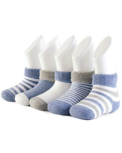Adorel Calcetines Invierno de Rizo para Bebé Niño Lote de 5