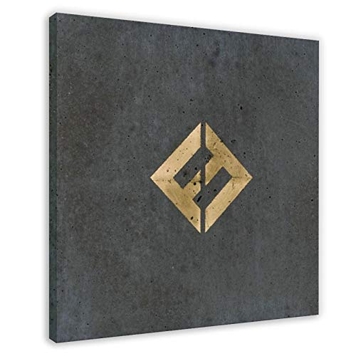 Foo Fighters's Album Cover - Concrete And Gold Canvas Poster Bedroom Decor Sports Landscape Office Room Decor Gift 12×12inch(30×30cm) Frame-style1