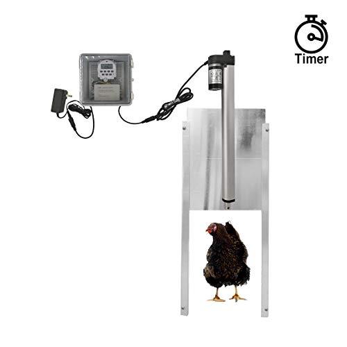 JVR Automatic Chicken Door Coop Opener Kit, Waterproof...