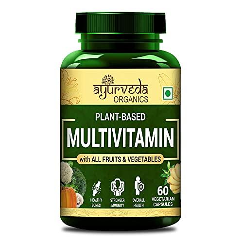 Ayurveda Organics Organic Multivitamin with all Fruits & Vegetables - 60 Vegetarian Capsules