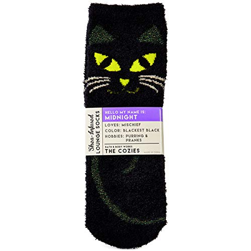 Bath and Body Works Midnight the Cat Shea-Infused Lounge Socks