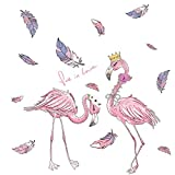ACEACE Flamingo Tiere Wandaufkleber DIY Baum Blätter Wandtattoos for Kinder...