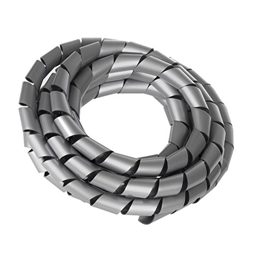 Maclean MCTV-686 S Flexible Kabelspirale Spiralband Kabelschlauch Bündelbereich Wickelschlauch 3m (14.6 * 16mm, Silber)