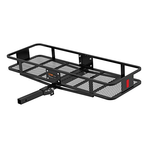 CURT 18151 60 x 20-Inch Basket Hitch Cargo Carrier, 500 lbs Capacity, Black Steel, 2-In Folding Shank