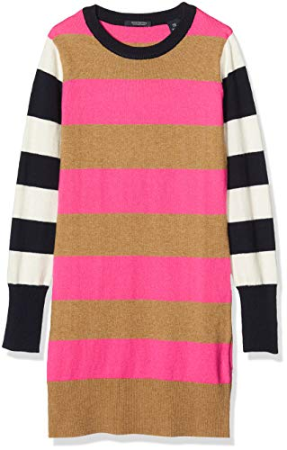 Scotch & Soda Knitted Stripe Dress Vestito, Multicolore (Combo A 0217), 152 (Taglia Produttore: 12) Bambina