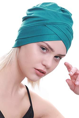 Deresina Headwear Deresina W Baumwollmütze für Chemo (Teal)