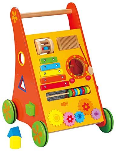 Aurich Babywalker / Lauflernwagen mit Motorikspielen / Material: Holz / Maße: 35 cm breit - 47 cm hoch / Gewicht: ca. 4 kg / für Kinder ab 1 Jahr