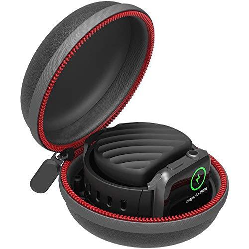 IWTTWY Uhrengehäuse Ladeständer Tragbare wasserdichte Reißverschluss-Uhrenbox für Smartwatch 38 mm 40 mm 42 mm Serie 1 2 3 4 5 6