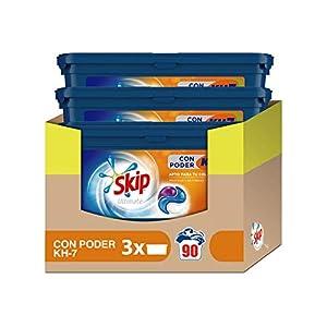 Skip Capsulas Ultímate Poder KH7 – Paquete de 3 x 30 lavados – Total: 90 lavados