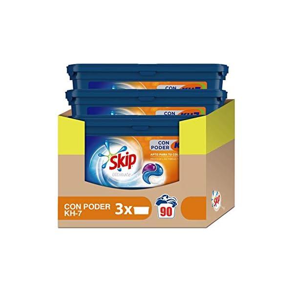Skip Ultimate Detergente Capsulas 3en1 CON PODER KH7 30lav – Pack de 3