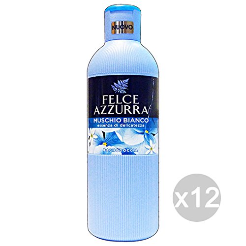 Lot 12 fougère bleue bain Musc Blanc 650 ml produit bain et douche