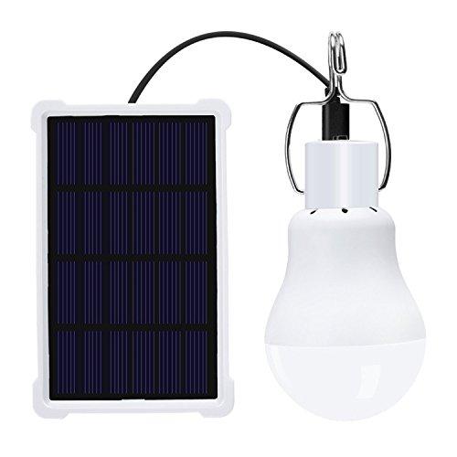LILICEN La iluminación Exterior portátil Bombilla Solar 1Watts LED Recargable Lámpara Colgante de Energía for Hogares de iluminación Pesca 1pcs Luces al Aire Libre Que va de excursión