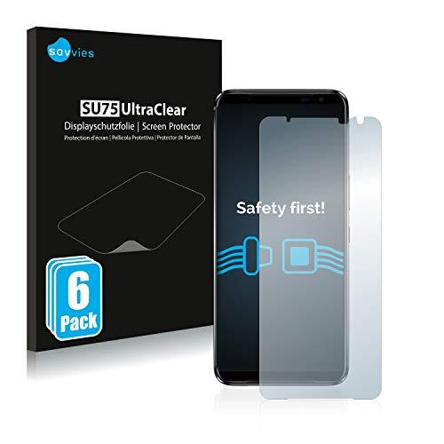 Savvies 6X Schutzfolie kompatibel mit Asus ROG Phone 3 Strix Bildschirmschutz-Folie Ultra-transparent