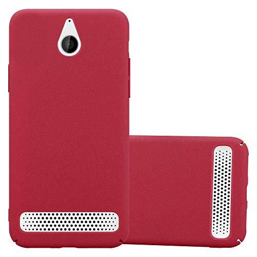 Cadorabo Hülle für Sony Xperia E1 - Hülle in Frosty ROT – Hardcase Handyhülle im matten Frosty Design - Schutzhülle Bumper Back Hülle Cover