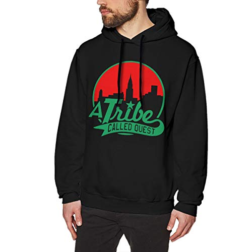 A Tribe Called Quest Man's Hoodie Sweater Fashion Long Sleeve Top Pullover Hooded Sweatshirt Hoodies Black 3X-Large