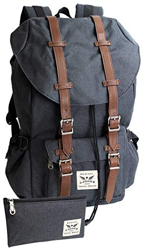 Grote rugzak met 15 inch laptopvak bekleed – veel opbergruimte – voor school, trekking, reizen.