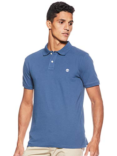 Timberland Herren SS Merrymeeting Rv Stretch Pique Polo Slim Poloshirt, Blau (Dark Denim 288), Small (Herstellergröße:S)