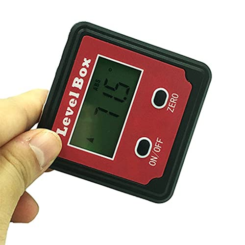 ZHYONG 2 Botones Mini Goniómetro Digital Caja de Herramientas de medición Inclinómetro Electrónico Ángulo Potractor Electrónico Nuevos Accesorios para Equipos de medición