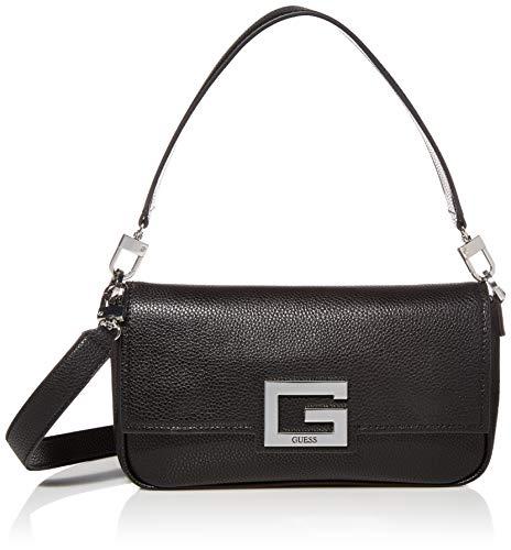 Guess Damen Brightside Shoulder Bag Umhängetasche, schwarz, Einheitsgröße