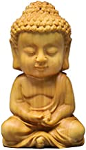 ZGPTX Small Leaf Yellow Poplar Wood Carvings The Buddha Statue Saga Pieces to Play Crafts Wooden Carving Gifts