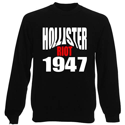 Sudadera por Hombre Negro OLDENG00523 Hollister Riot 1947