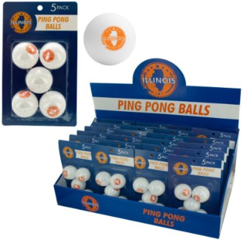 Bulk buys Illinois Ping Pong Balls (Countertop Display), White orange