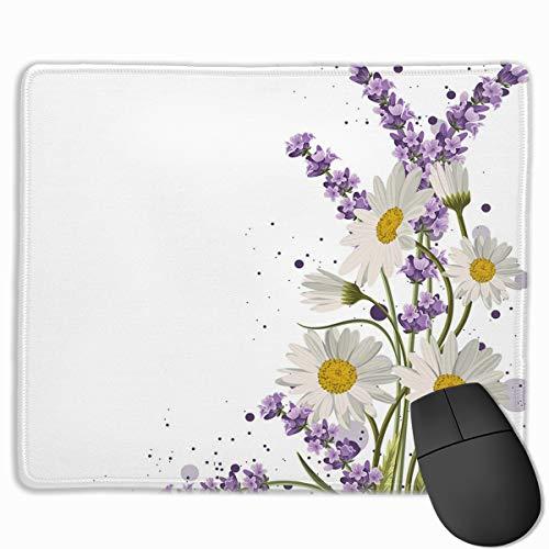 HUAYEXI Stoff Mousepad,Lebendige Bouquet Daisies Color Slashes Scenic,Rutschfest eeignet für Büro und Gaming Maus
