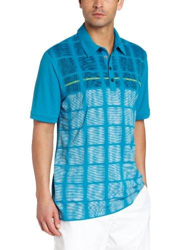 adidas Polo de Golf Climacool avec fenêtre pour Homme Moyen Bleu Marine/Bleu Marine.