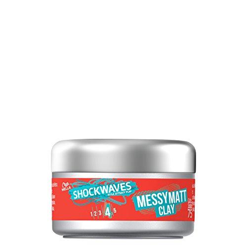 Wella Shockwaves Go Matt Clay 75 ml (Pack of 3)