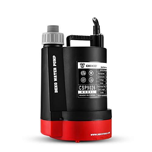 DEKOPRO 1/3HP 2450 GPH Submersible Utility Water Pump High-efficiency Motor Clean...