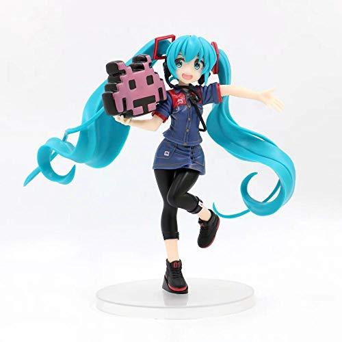 No Alto 20 CM Hatsune Miku Segundo Juego Uniforme Juego Hatsune Escultura en Caja Regalo Modelo Obra de Arte Anime