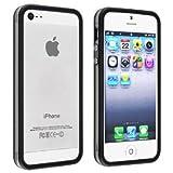 i-Beans【全16色】iPhone5 用バンパー ソフト+ハード アイフォン5 バンパーケース ブラック+クリア Bumper Case for iPhone 5(7876-16)