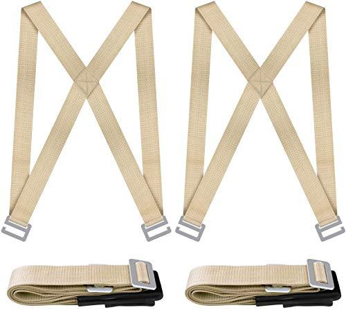 NOUVCOO draagriem, transportgordel, ergonomische hefgordel met schuimrubberen kussens - gemakkelijk te transporteren meubelapparatuur of zware grote voorwerpen NV01