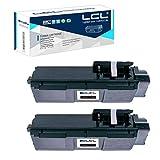 LCL Cartucho de tóner Compatible TK1160 TK-1160 1T02RY0NL0 (2 Negro) Reemplazo para Kyocera Ecosys P2040DN Ecosys P2040DW Ecosys P2040