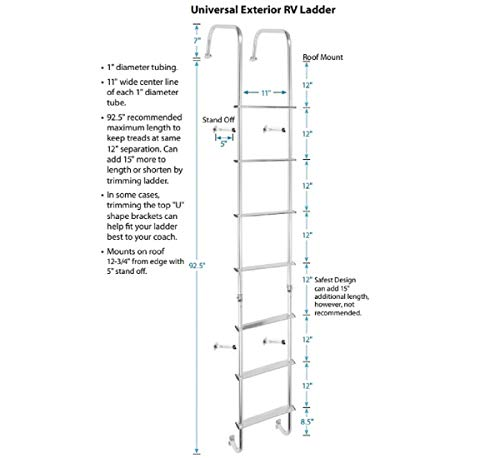 Stromberg Carlson 139.21 LA-401 Universal Exterior RV Ladder
