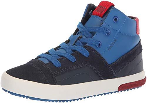 Geox Jungen J Alonisso Boy A Hohe Sneaker, Blau Navy Red C0735, 32 EU