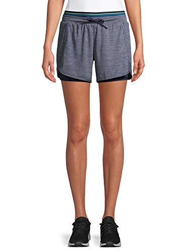 Avia Activewear Women's Running Short with Bike Liner (Medium 8/10, Grey)