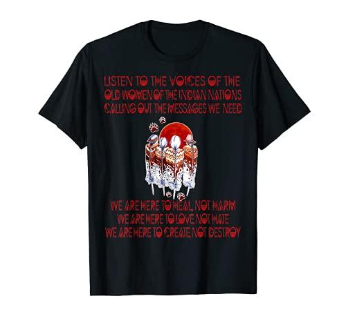Indígena Nativo Americano Indio Proverbio Cultura Arte Camiseta