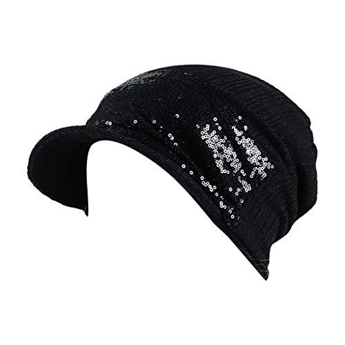 Strickmützen Frauen Wollmützen Solide Indien Pailletten Stretch Hut Applique Haarausfall Kopftuch Wrap CICIYONER