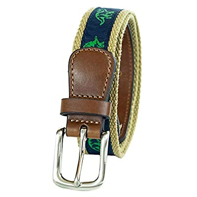 Wembley Big Boys Animal Novelty Fabric Belt, Dinosaur, S