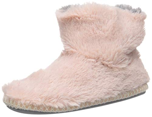 Dearfoams Unisex-Baby DF Kids Toddlers Fluffy Pile Bootie Slipper, Dusty Pink, 11-12 Toddler Medium US Toddler
