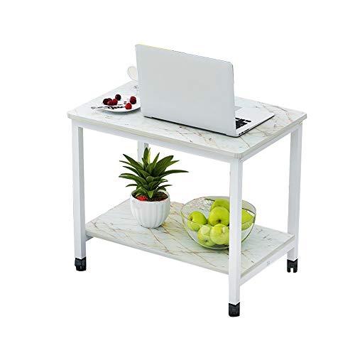 Preisvergleich Produktbild Laptopständer DD Mobiler Couchtisch,  Sofa Square Table,  Nachttisch,  Rolltisch -Werkbank (Farbe : Marble+White)