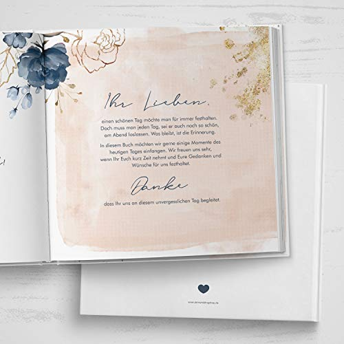 Gästebuch mit Fragen |Watercolor Breeze, rosé - 4