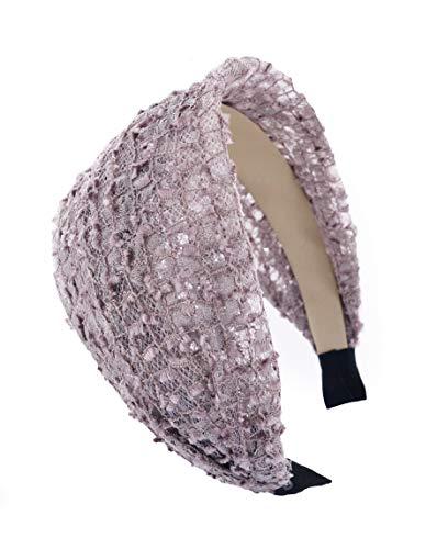 axy HR31A Breite Haarreif Serie 31a Stoff Hair Band (Pastellviolett)