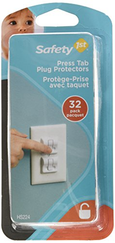 Safety 1st Press Tab plug protectors (32PK) by Safety 1st