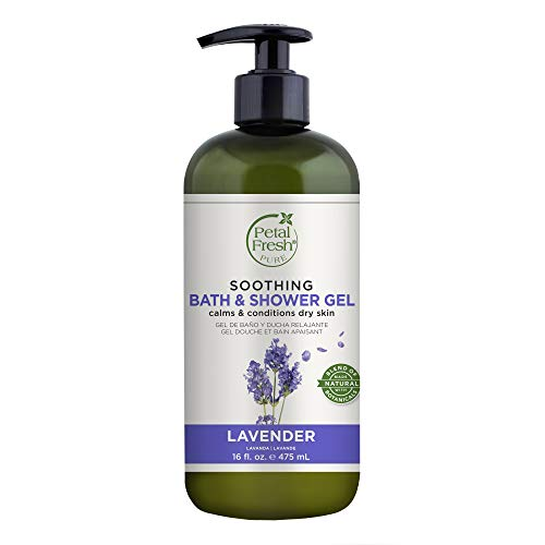 Petal Fresh Pure Soothing Bath and Shower Gel Lavender, Instantly Calming, Lasting Nourishment, Vegan and Cruelty Free, 16 Fl oz