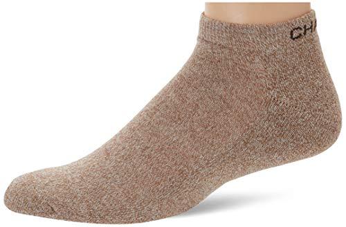 Chaps Men's Assorted Marl Low Cut Casual Socks (3 Pack), khaki, Shoe Size: 6-12