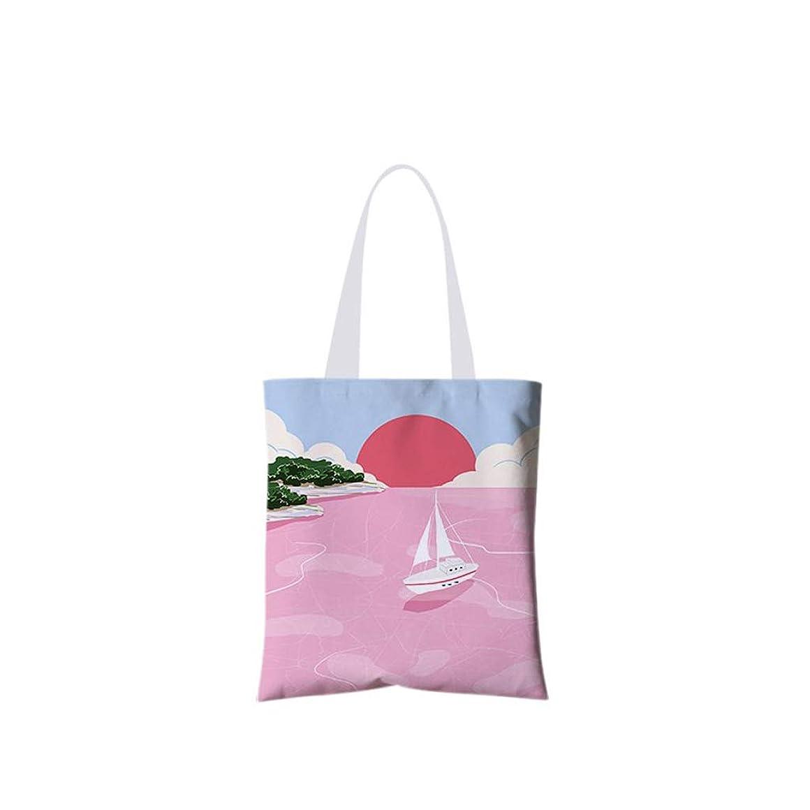 気取らない指標スノーケルキャンバスハンドバッグ、ショッピングバッグ、洗える食品のハンドバッグ、手描きのキャンバスバッグ、小さなショッピングバッグ(かわいいイラストパターン8)