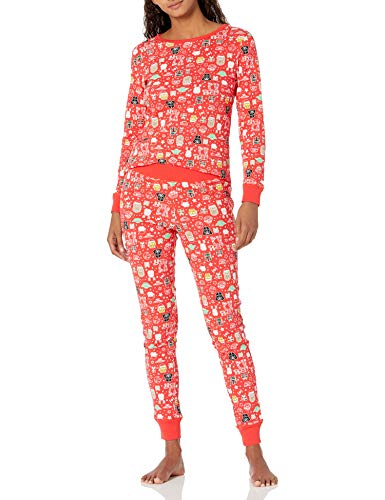 Amazon Essentials Womens Disney Star Wars Marvel Family Matching Snug-Fit Cotton Pajamas Sleep Sets, 2-Piece Star Wars Holiday, X-Large